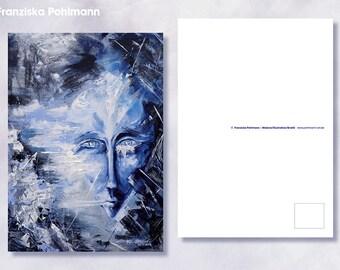 """Postcard """"Broken Window"""""""