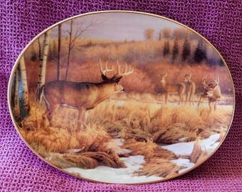 Limited Edition Set of 3 Woodland Tranquility Bradford Exchange plates