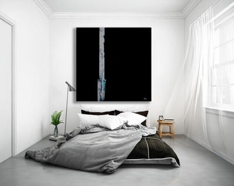 XL Black Minimalist Painting / Abstract Art / Modern Art / Contemporary Art / Black and White Painting / Black and White Art /