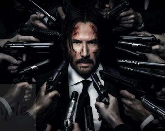 John Wick Chapter 2 Keanu Reeves artistic movie poster