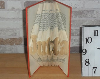 Your name - folded book / / up to 6 letters / / Bookfolding / / Visual Arts / / gift / / day / / book wrinkles / / birthday