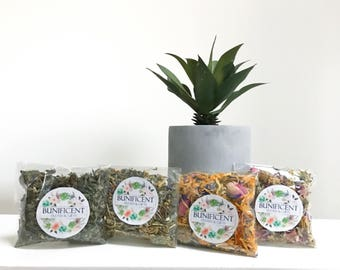 SAMPLE Hay Topper (10g) - Dry Herbs and Flower Treats for Bunny Rabbits, Guinea Pigs and Mouse, Rats  - Tasty pet food, Treat, snack