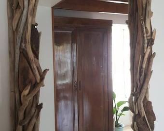 Miroir de petits bois flottés