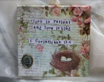 Love is Patient.. - 1st Corinthians Canvas Quote