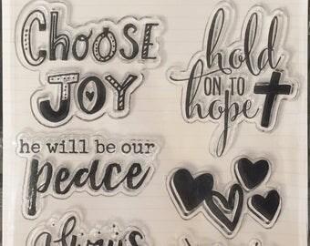 Bible Journaling Stamp-CHOOSE JOY