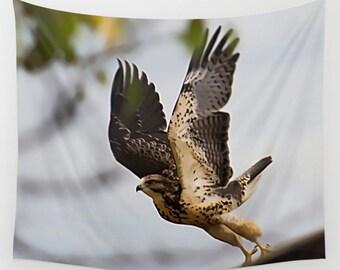 Take Flight, Spread Your Wings, Dorm Decor, College Decor, Bird Tapestry, Spreading Wings, Symbolic Decor, Hawk Tapestry, Hawk Wall Hanging