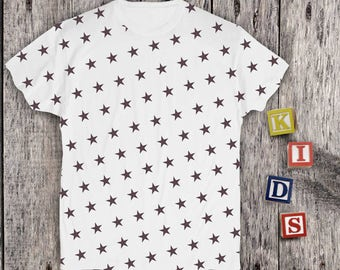Stars shirt for Kids Printed Tshirt Space shirt Boys Graphic T-shirt Shirt Baby Girl Cute Shirt Childs Printed Tee Toddlers Shirts PA1139