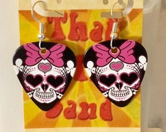 That NATION Band Day of the Dead Guitar Pick Earrings