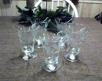 Rossini Etched Crystal Iced Tea Glasses, Set of 4