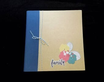 Pre-made 8 x 8 Scrapbook Album-Family