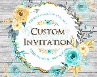 Custom Invitation | Graphic Design Invitation | Printable Invitation | Design Only JPEG