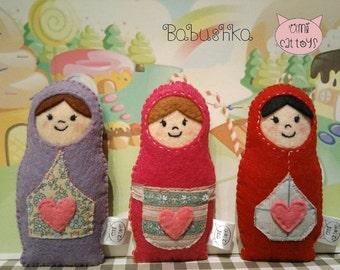 Babushka Cat Toy,  Babushka Catnip Toy,  Babushka Valerian Cat Toy
