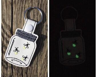 Embroidered Lighting Bug Keychain/Firefly Keychain