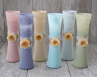 Rustic Vases - Wedding Vases - Table Decor - Wedding Centerpiece