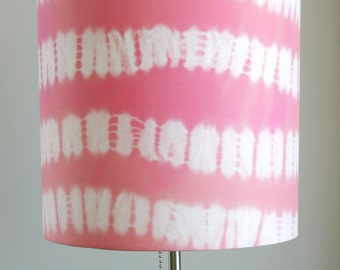Tie Dye Coral & Pink lampshade