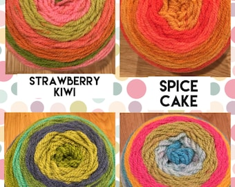 Custom cakes color yarn