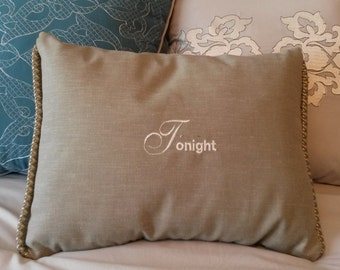 Embroidered Grey Tonight Pillow