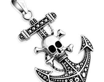 Skull Anchor Stainless Steel Pendant