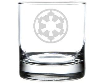 Glactic Empire, Star Wars tribute, Laser engraved barware