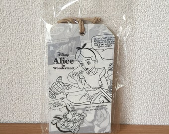 Disney Alice In Wonderland tag design memo pads L size Alice Cheshire Cat Mad Hatter White Rabbit message papers