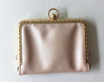 Card holder/card solution/ironing bag: pink faux leather