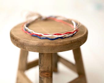 Red, White & Blue / 4th Of July Headband