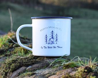 In The Wild - Enamel Travel Mug - Outdoors, Adventure, Camping
