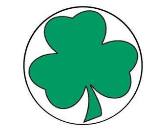 "Shamrock 1"" pinback button"