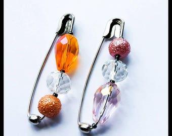 Sale~Half Price~4.8cm Safety Pin Brooch/Hijab/Scarf/Shawl/Sharong Pin~Handmade