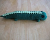 Crocheted Rice Warmer Lizard