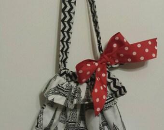 Eiffel Tower Reversible Toddler Purse Handbag Tote