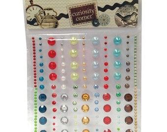 Curiosity Corner Premium Adhesive Gems & Pearls - Dovecraft - DCGE010