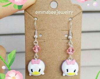 Daisy Duck Tsum Tsum Crystal Earrings