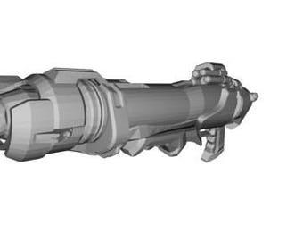 Overwatch Pharah Rocket Launcher 3D Printed Cosplay Prop