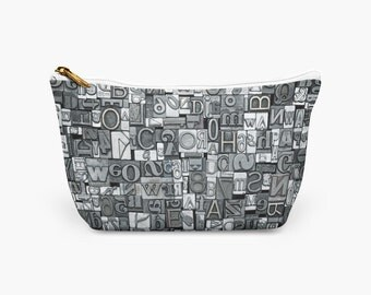 Typography Accessory Pouch