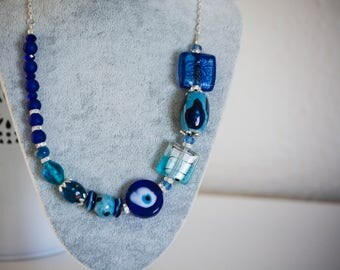 SALE! 50% OFF EVERYTHING! Chunky Blue Necklace - Big&Bold