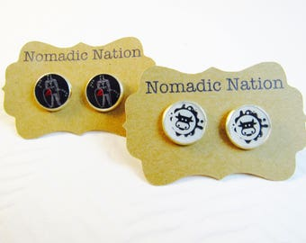 Change of Command Gift- COW Gift- Custom Cow & Squadron Earring Set