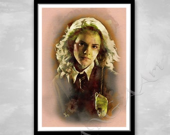 Hermione Granger Hermione poster Instant Download Hermione print home decor Hermione Granger wall art Watercolor