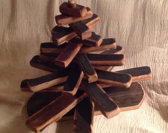 Whisky Barrel Stave Christmas Tree