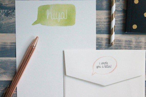 Hiya! Cute Note Letter Writing Set | Writing Paper | Stationery Gift Set | Gift For Her | Tween ...