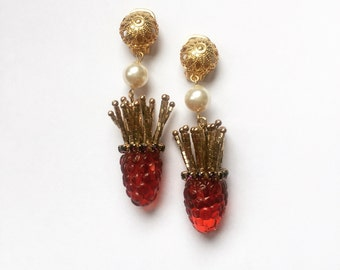 Rasberries earrings
