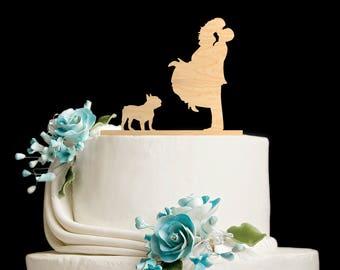 Couple silhouette Bulldog wedding topper,Couple Kissing topper Bulldog,Wedding topper pug,Bulldog cake topper,Bulldog silhouette,pug,5862017