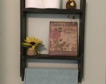 Rustic Bathroom Shelf 16 inches
