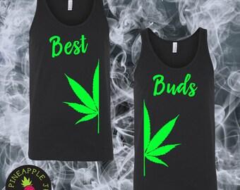 Best Buds Stoner Unisex Tank - Best friend stoner tank set - Mens Best Friend Shirt - Stoner Apparel
