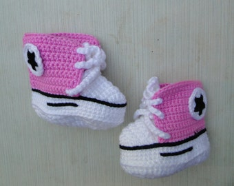 Crochet baby Converse sneakers, Crochet baby shoes, Crochet shoes, Crochet sneakers, Crochet booties, Baby boy sneakers, Baby girl sneakers