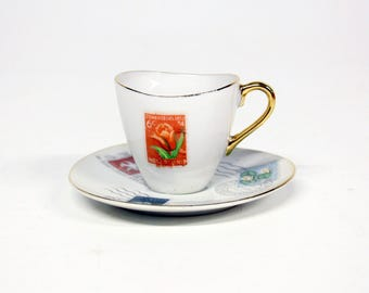 Cup and saucer stamps Collectors item