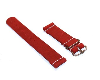 red strap , red wach / red watch band / red style / red day / strap16 strap18 strap20