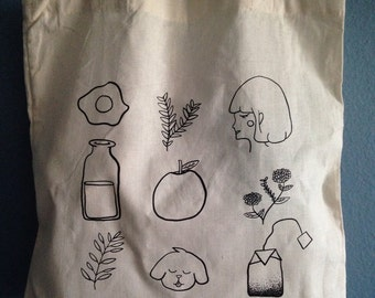 Happy Doodles Tote Bag