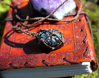 The Mexico Apache tear Obsidian necklace