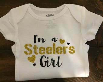 Baby Girl Steelers Onesie